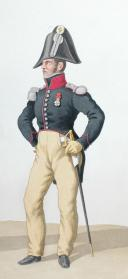 Photo 2 : 1820. Légions Départentales. Capitaine de Voltigeurs (74e Légion - de Seine et oise), Capitaine Adjudant-Major de chasseurs (47e Légion - Maine et Loire).