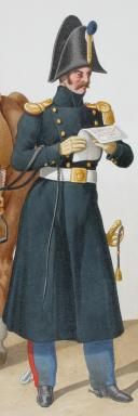 1822. Dragons. Officier en petite tenue (2e Régiment - du Doubs). (2)