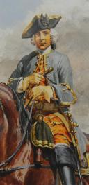 Photo 5 : LUCIEN ROUSSELOT : AQUARELLE ORIGINALE - CAVALERIE, ANCIENNE MONARCHIE.