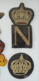RÉUNION DE NEUF BRODERIES POUR SCHABRAQUE ET RETROUSSIS DE LA GARDE IMPÉRIALE, SECOND EMPIRE. (5)