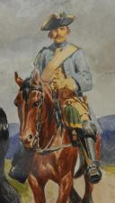 Photo 7 : LUCIEN ROUSSELOT : AQUARELLE ORIGINALE - CAVALERIE, ANCIENNE MONARCHIE.