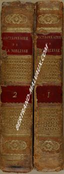 "SAINT-ALLAIS - "" Dictionnaire de la Noblesse "" - seconde édition - 2 volume - Paris - 1816 (1)"