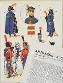 """L'ARMÉE FRANÇAISE Planche N° 52 : """"ARTILLERIE À CHEVAL - Officiers et Trompettes - 1804-1815"""" par Lucien ROUSSELOT et sa fiche explicative. (1)"""