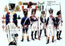 RIGO (ALBERT RIGONDAUD) : LE PLUMET PLANCHE U16 : INFANTERIE DE LIGNE 8e REGIMENT GRENADIERS, VOLTIGEURS ET FUSILIERS 1807-1808.