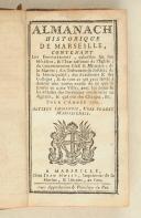 Almanach historique de Marseille – 1770