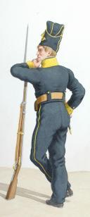 Photo 2 : 1820. Légions Départentales. Caporal-Tambour ( 17e Légion - du Cher), Chasseur (13e Légion - du Calavados)