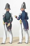 1830. Garde Royale. Dragons, Maréchal des Logis-Fourrier, Maréchal des Logis-Trompette.. (2)