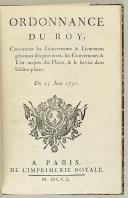 Photo 4 : ORDONNANCE DU ROY, DU 25 JUIN 1750