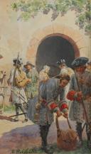 Photo 5 : LUCIEN ROUSSELOT : AQUARELLE ORIGINALE - TAMBOUR D'INFANTERIE, ANCIENNE MONARCHIE.