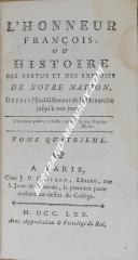 """J.P COSTARD - """" L'honneur François """" - 2 volume - Paris - M.de SACY"""