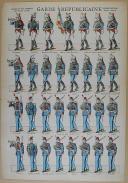 """VAGNÉ (Louis) - """" Garde Républicaine """" - Imagerie nouvelle - Soldats à bloquer (1)"""