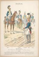 """R. KNÔTEL -  """" Italien - Ehrengarden. Das Italienische Heer untel Vicekönig Eugen 1812 """" - Gravure - n° 11"""