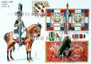 Photo 1 : RIGO (ALBERT RIGONDAUD) : LE PLUMET PLANCHE 152 : CHASSEURS A CHEVAL 11e REGIMENT ETENDARDS 1801.