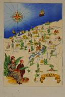 Photo 1 : Carte postale mise en couleurs représentant la région du «ORAN».
