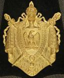 Sabretache de grande tenue d'officier supérieur des Guides de la Garde Impériale, modèle 1854, Second Empire. (2)