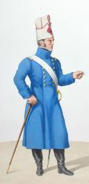 Photo 2 : 1820. Légions Départentales. Adjudant Sous-Officier (41e Légion - de la Haute Loire), Sergent - Major de Fusiliers (71e Légion - de la Sarthe)