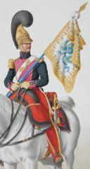 Photo 2 : 1824. Dragons.  Sous-Lieutenant Porte-Etendard (4e Régiment - de la Gironde).