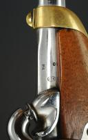 Photo 3 : PISTOLET MANCEAUX VIEILLARD, MODELE D'ESSAI 1862, SECOND EMPIRE.