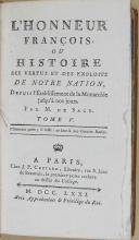 """J.P COSTARD - """" L'honneur François """" - 2 volume - Paris - M.de SACY  (5)"""