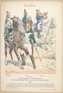 """R. KNÔTEL -  """" Italien - Dragoner. Das Italienische Heer untel Vicekönig Eugen 1812 """" - Gravure - n° 18"""