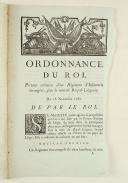 ORDONNANCE DU ROI, portant création d'un Régiment d'Infanterie étrangère, sous le nom de Royal-Liégeois. Du 18 novembre 1787. 4 pages