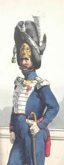 BELLANGÉ (Hippolyte) - CAPITAINE DE GRENADIERS À PIED DE LA GARDE ROYALE, 1825. (2)