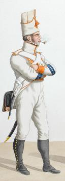 Photo 2 : 1820. Légions Départentales. Caporal de Fusiliers, Fusilier (52e Légion - de la Meurthe).