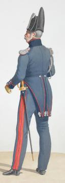 Photo 2 : 1824. Garde Royale. Train d'Artillerie. Soldat, Major.