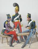 Photo 2 : 1824. Dragons.  Trompette, Maréchal des Logis, Dragons (8e Régiment - du Rhône).