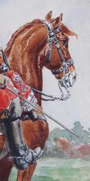 Photo 2 : ROUSSELOT LUCIEN : AQUARELLE ORIGINALE, GENDARMERIE DE FRANCE VERS 1720 : OFFICIER SUPÉRIEUR DE LA GENDARMERIE DES FLANDRES, ANCIENNE MONARCHIE.
