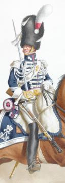 1817. Garde Royale. Grenadiers à Cheval (2e Régiment). Maréchal des Logis. (2)