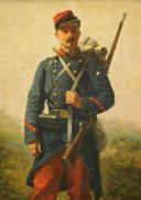 Photo 3 : PORTRAIT D'UN SOLDAT TROUPE D'INFANTERIE, TROISIÈME RÉPUBLIQUE.