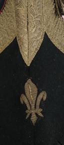 BONNET DE POLICE DE PETITE TENUE D'OFFICIER DE LA COMPAGNIE DE PUYSEGUR DES GARDES-DU-CORPS DE MONSIEUR, 1814-1825. (5)