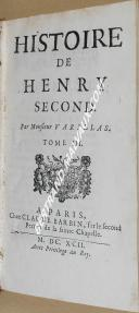 "VARILLAS - "" Histoire de Henry Second  "" - Tome 3 - Paris  (1)"