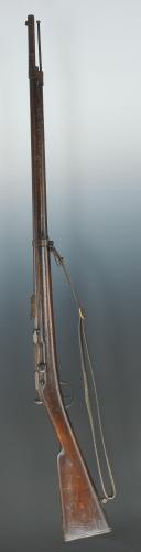 Photo 1 : FUSIL CHASSEPOT MODÈLE 1866 AVEC SABRE-BAÏONNETTE, TROISIÈME RÉPUBLIQUE.