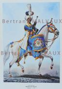 RIGO (ALBERT RIGONDAUD) : LE PLUMET PLANCHE ES4 : GARDE IMPERIALE REGIMENT DES DRAGONS TIMBALIER 1810. (1)