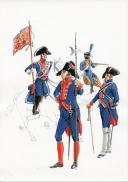 Photo 1 : PÉTARD MICHEL, PLANCHE ORIGINALE AQUARELLÉE : ESPAGNE :  MAISON DU ROI, 1808, PREMIER EMPIRE.