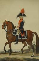 Photo 1 : HOFFMANN NICOLAS : CHEF D'ESCADRON DU 1er RÉGIMENT DE CAVALERIE, VERS 1800, DIRECTOIRE. REPRODUCTION XX° PAR GOSSELLIN