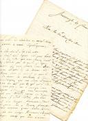 DEUX LETTRES DE JEAN GAGNEUX, fusilier dans la 6ème compagnie du 2ème bataillon de la 178ème demi-brigade puis de la 17ème brigade, À SES PARENTS habitant Azay-sur-Cher. Lettres du 16 janvier 1795 depuis Landau et du 17 décembre 1796 depuis Strasbourg.