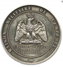 MÉDAILLE D'IDENTITÉ DE LA MAISON DE L'EMPEREUR DU CAPITAINE VERLY, COMMANDANT L'ESCADRON DES CENTS GARDES, SECOND EMPIRE. (1)