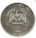 MÉDAILLE D'IDENTITÉ DE LA MAISON DE L'EMPEREUR DU CAPITAINE VERLY, COMMANDANT L'ESCADRON DES CENTS GARDES, SECOND EMPIRE. (1)