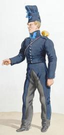Photo 2 : 1820. Légions Départentales. Eclaireur-Lancier, Trompette (66e Légion - du Bas Rhin).