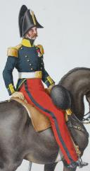 Photo 2 : 1824. Dragons.  Officier en petite tenue (6e Régiment - de la Loire).