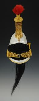 Photo 2 : CASQUE D'OFFICIER DE CUIRASSIER, modèle 1844, Monarchie de Juillet - Second Empire.