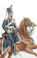 Photo 1 : 1820. Légions Départentales. Lieutenant d'Eclaireurs (53e Légion - du Nord)