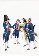PÉTARD MICHEL, PLANCHE ORIGINALE AQUARELLÉE : ESPAGNE :  ADMINISTRATION, 1808, PREMIER EMPIRE.