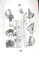 SABRES DES GARDES DU CORPS DU ROI TROUPE 1814-1830; planche 1, TOME VII, 1er fascicule 1968. (1)