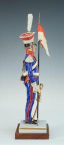 FIGURINE EN PORCELAINE PAR VAN GERDINGE, CHEVAU-LEGERS LANCIERS POLONAIS GARDE IMPRERIALE 1810 (3)