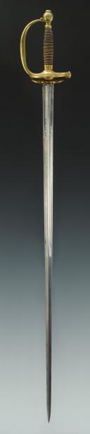 ÉPÉE DE DISTINCTION DONNÉE PAR LE ROI AUX ÉLÈVES DE L'ÉCOLE ROYALE MILITAIRE DE SAINT-CYR, MODÈLE 1816, RESTAURATION.  (4)