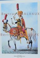 RIGO (ALBERT RIGONDAUD) : LE PLUMET PLANCHE ES1 : GARDE IMPERIALE REGIMENT DES GRENADIERS A CHEVAL TIMBALIER 1806.